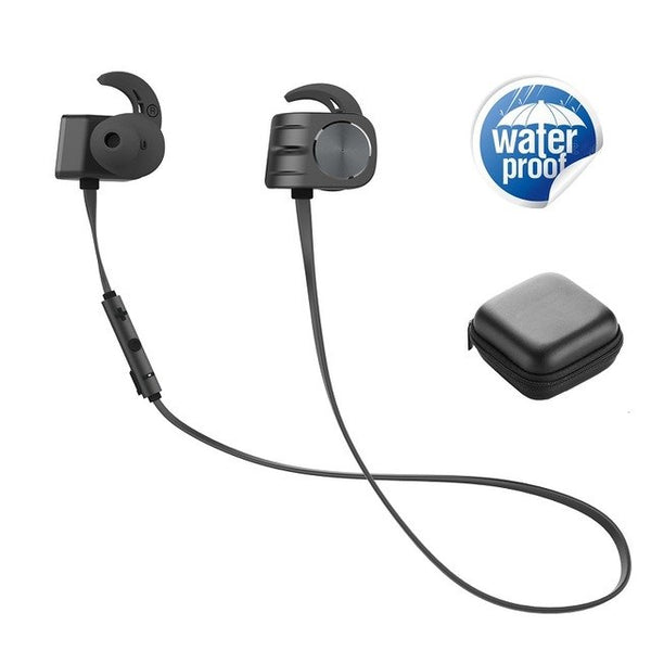 2018 Waterproof Sport Bluetooth Earphone Headphones Wireless Earbuds with Mic Handsfree Stereo Headset for iphone 7 Xiaomi Phone - thebluedream.net