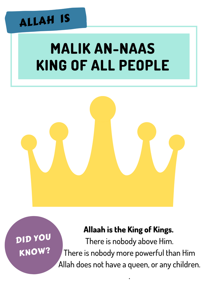 Tafseer King of All Kings Worksheet