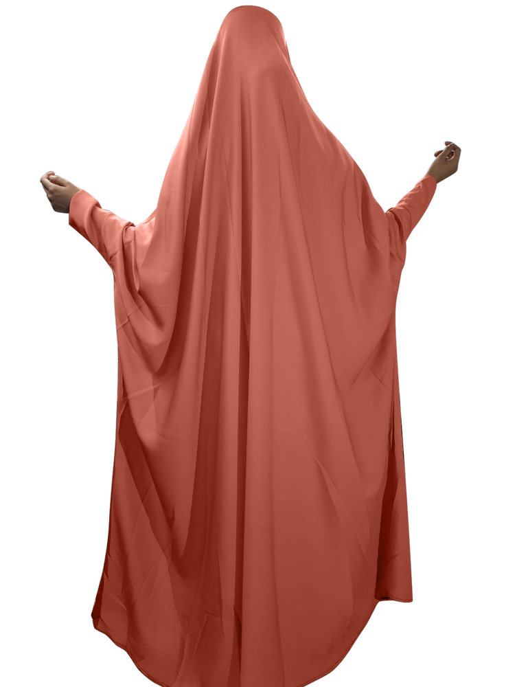 Coral One Piece French Butterfly Jilbaab