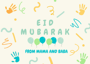 Load image into Gallery viewer, Free Kids Eid Card (Blue)