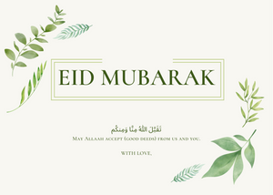 Load image into Gallery viewer, Free Minimal Plant Eid Mubarak Card
