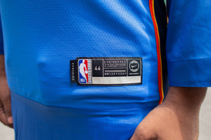 Load image into Gallery viewer, Nike Dri Fit Russell Westbrook Oklahoma City Thunder Sport Jersey Thobe/Juba
