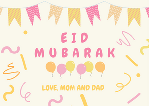Free Kids Eid Card (Pink)