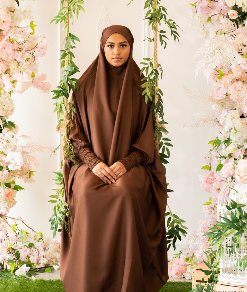 Zaynab Jilbaab Coffee Brown