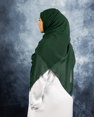 Load image into Gallery viewer, Evergreen Silk Chiffon Hijab