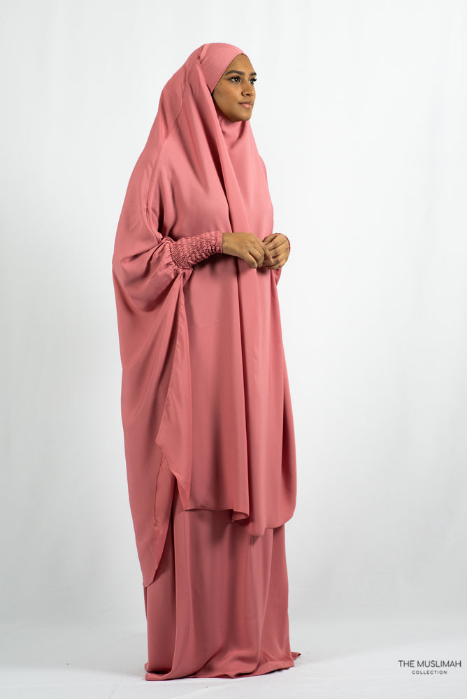 Load image into Gallery viewer, Aisha Two Piece Jilbaab Coral