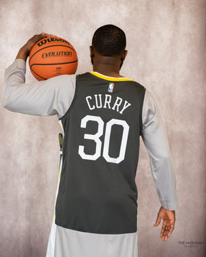 Nike Dri Fit Stephen Curry Golden State Warriors Sport Jersey Thobe/Jubba