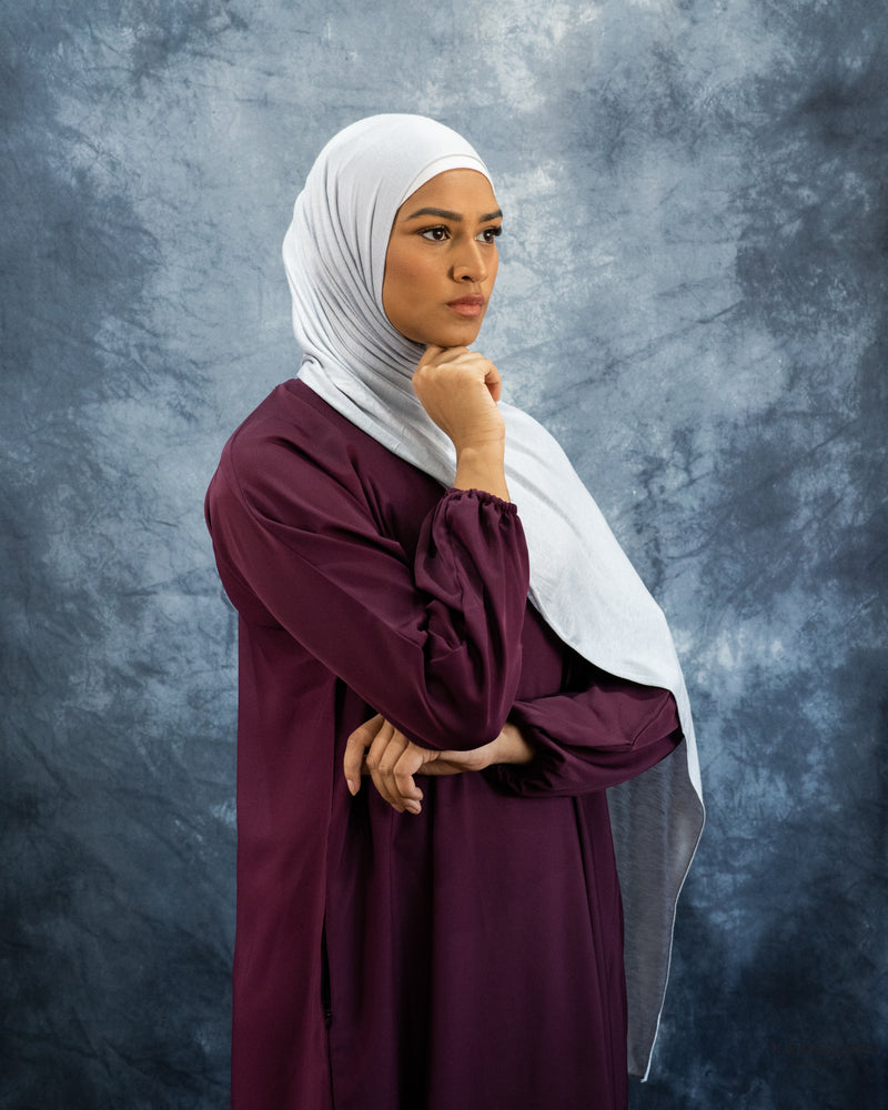 Ice Grey Jersey Hijab