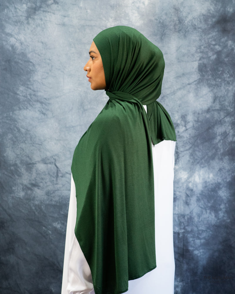 Forest Green Jersey Hijab