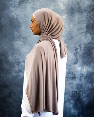 Jersey Hijab Light Mink
