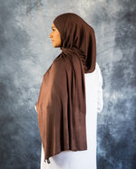 Coffee Brown Jersey Hijab