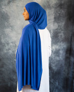 Royal Blue Jersey Hijab