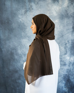 Coffee Brown Galaxy Hijab