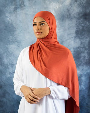 Burnt Orange Jersey Hijab