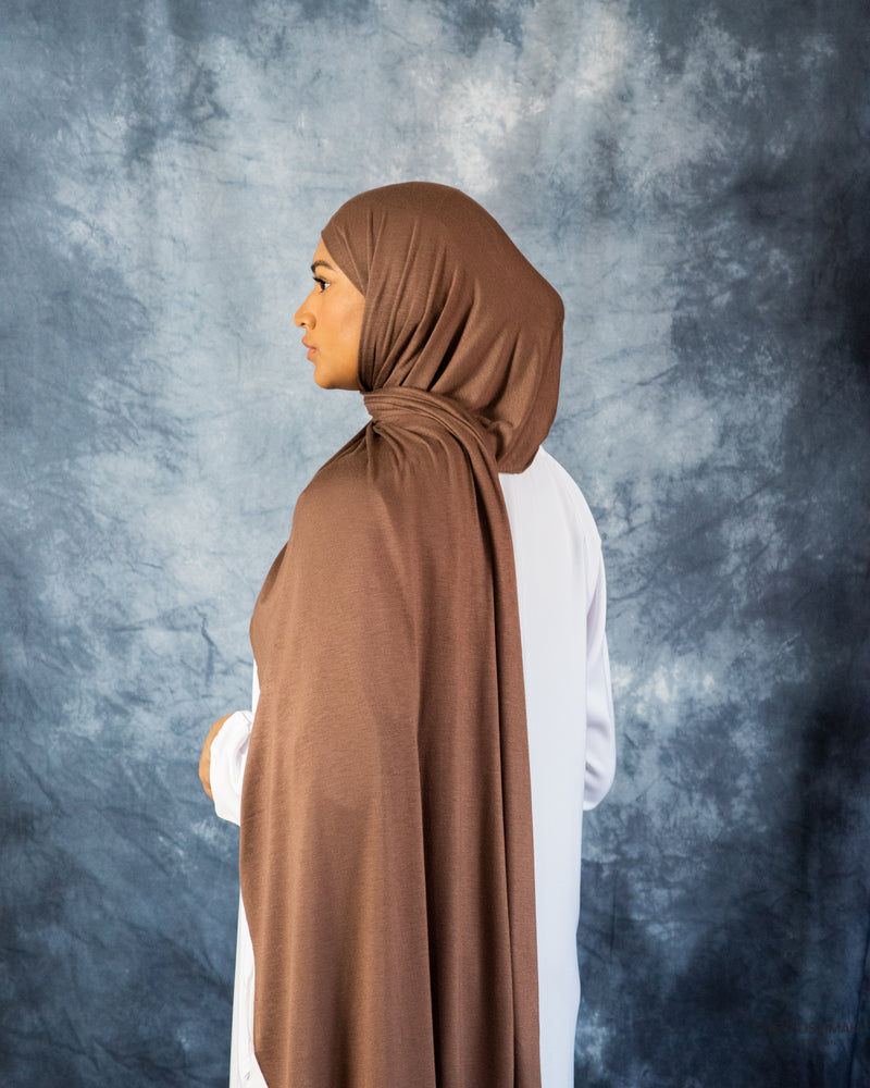 Ginger Brown Jersey Hijab