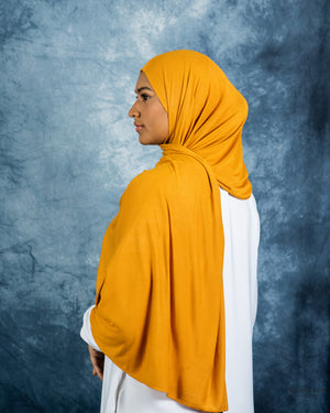 Load image into Gallery viewer, Jersey Hijab Mustard