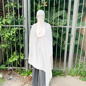 Load image into Gallery viewer, Grey XL Chiffon Hijab