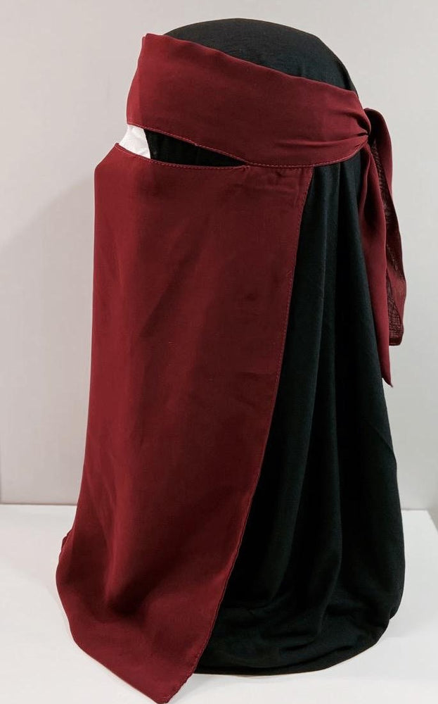 Load image into Gallery viewer, Maroon One Piece Single Layer Niqab