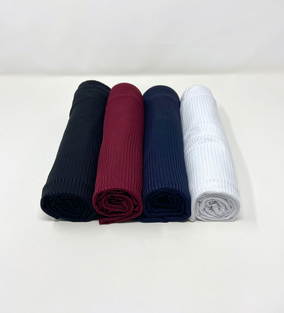 Ribbed Jersey Hijab Essentials Bundle Set 4 for $40: