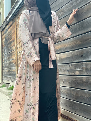 Load image into Gallery viewer, Magnolia Trail Satin Silky Kimono Abaya