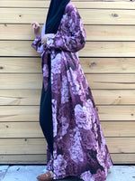Shades of Purple Satin Silky Kimono Abaya