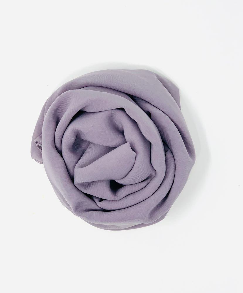 Lavender Sky Light Purple Chiffon Hijab
