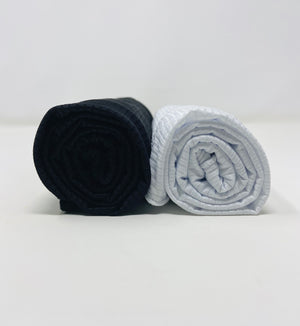 Ribbed Jersey Hijab Bundle Set 2 for $17.50: Black and White