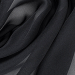 Luxury Silk Black Chiffon Hijab