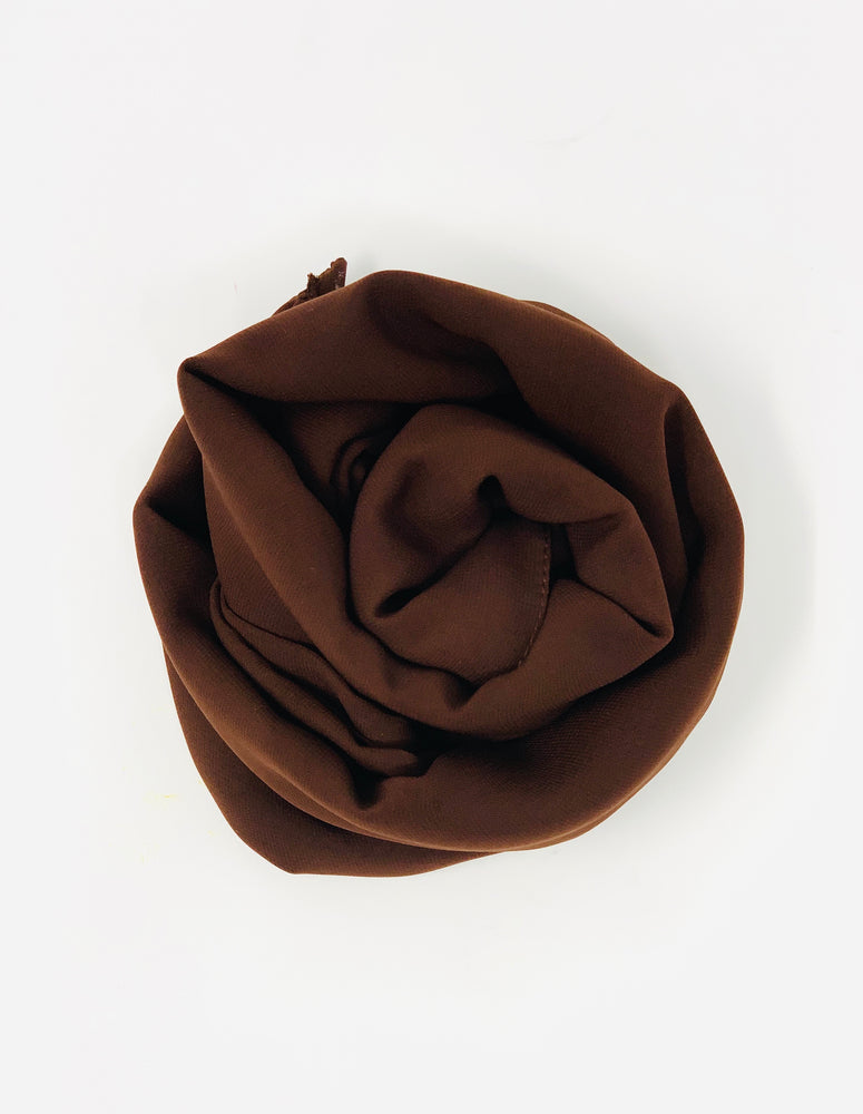 Walnut Brown Chiffon Hijab