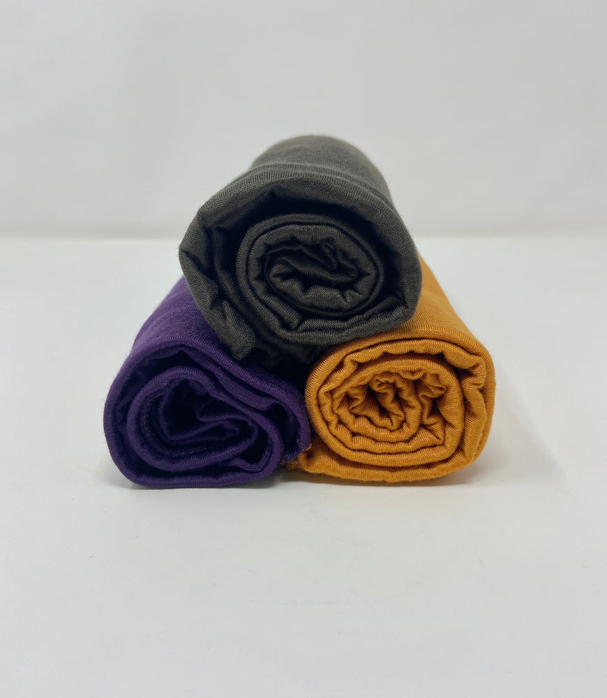 Jersey Hijab Bundle Set 3 for $30: Eggplant Purple, Navy Green and Burnt Orange