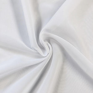 Luxury Silk White Chiffon Hijab