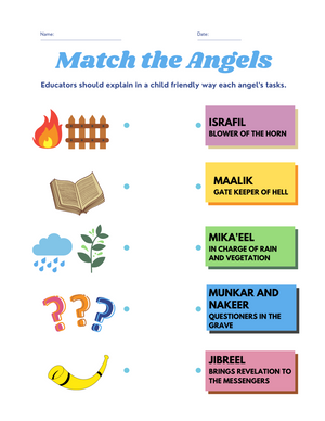 Knowing the Angels Worksheet