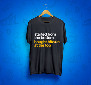 Bought Bitcoin At The Top Short-Sleeve Unisex T-Shirt