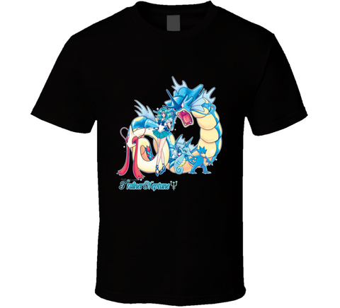 9bf7a2ca Pretty Guardian Trainer Neptune Pokemon Salor Moon T Shirt