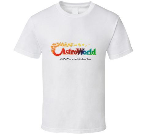 2bb5af06c Astroworld Theme Park - Houston, Texas - Promo Logo T Shirt Classic Arms