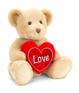 BROWN CHESTER 25CM BEAR WITH HEART