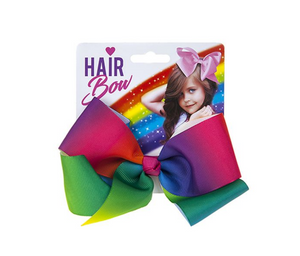 LARGE RAINBOW FASHION JOJO STYLE HAIR BOW