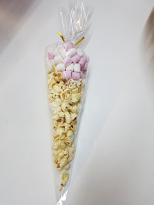 POPCORN & MARSHMALLOW PARTY CONES