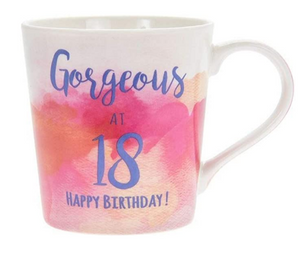 LESSER & PAVER WATERCOLOUR HAPPY BIRTHDAY GORGEOUS/FABULOUS MUG