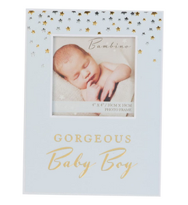 "GORGEOUS BABY GIRL/BOY PHOTO FRAME 4"" x 4"" GIFT BOXED"