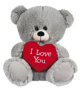 21IN GREY BEAR WITH RED HEART