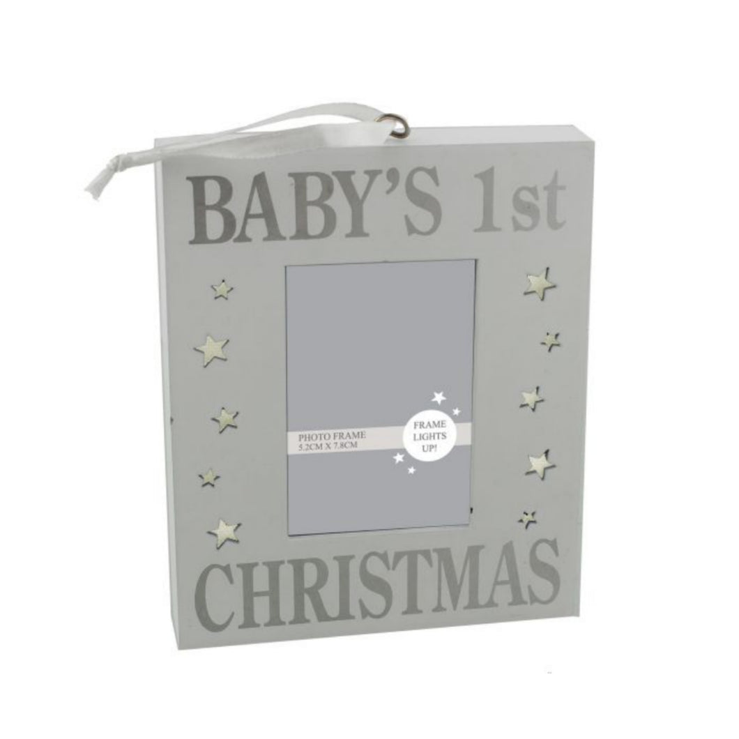 BABY'S 1ST CHRISTMAS LIGHT UP WALL PLAQUE