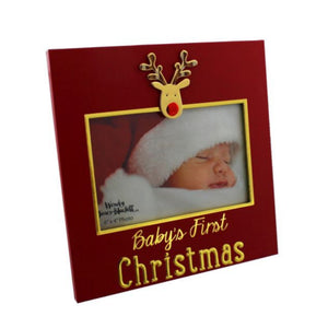 BABY'S 1ST CHRISTMAS PHOTO FRAME REINDEER