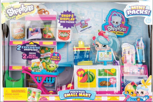 SHOPKINS MINI PACKS PICK N PACK SMALL MART PLAYSET