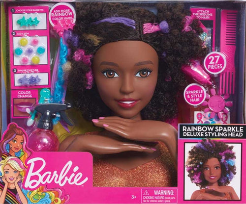 BARBIE SPARKLE DELUXE STYLING HEAD - AFRO HAIR
