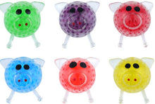 SQUEEZE PIG WITH BEADS 6CM