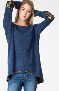 Adora Sequin Patch Sweater