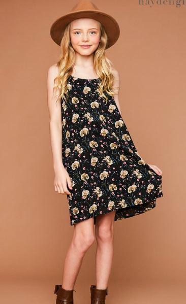 Girls Floral Cami Dress