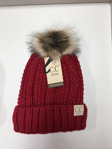 CC Kids Furry Pom Pom Hat