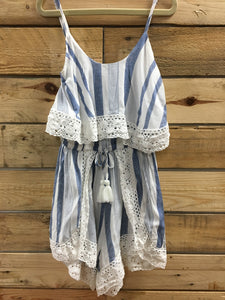 Jules Striped Romper